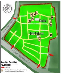 Mapa zamojskiej kwesty 2011