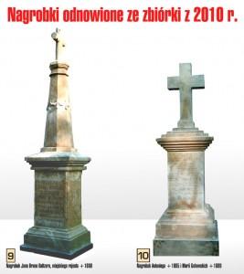 Nagrobki odrestaurowane w 2010 r.